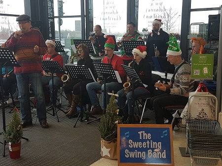 Sweeting Swing Band front page